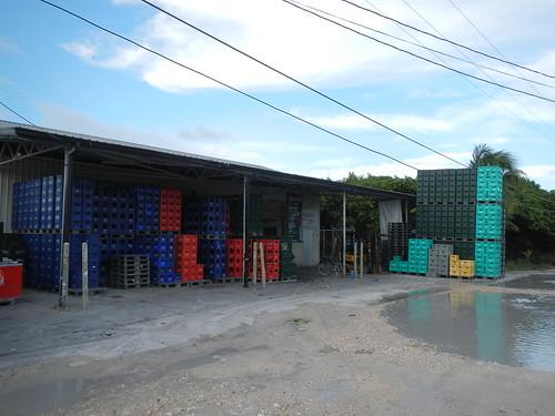 Bottled beverage warehouse Caye Caulker
