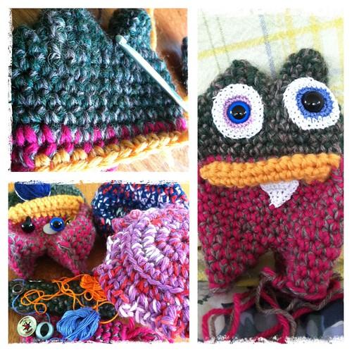 crochet monster wip progress