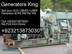 Used generators, New generators, for Sale in Karachi, Honda, Lutian, Lifan, gas, diesel, prices, generators prices in