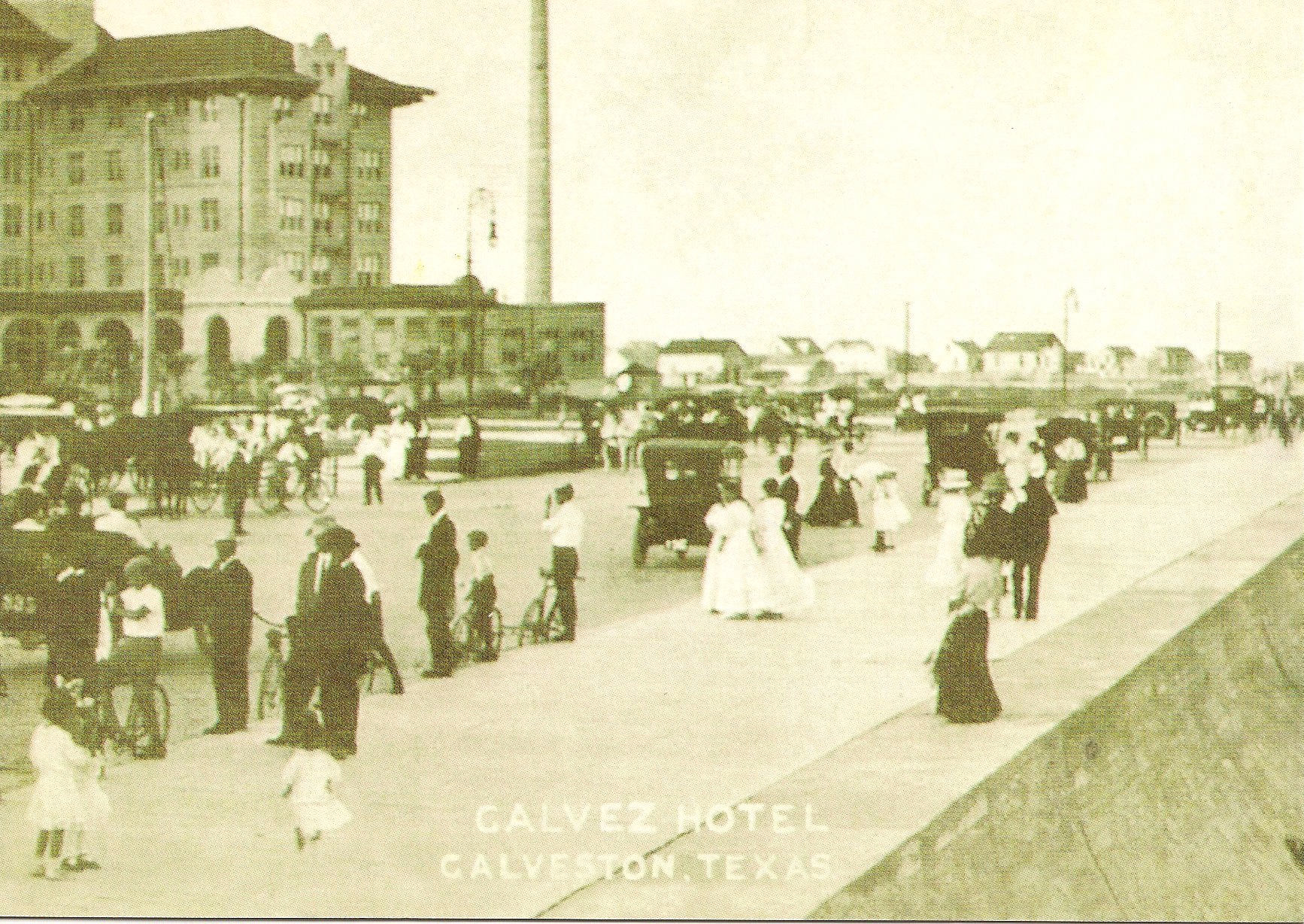 Galvez Hotel: Reproduction of Vintage Postcard.