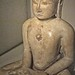 Jaina Tirthankara seated in meditataion (Dhyanamudra) India Gujarat 15th century CE white marble with traces of pigment