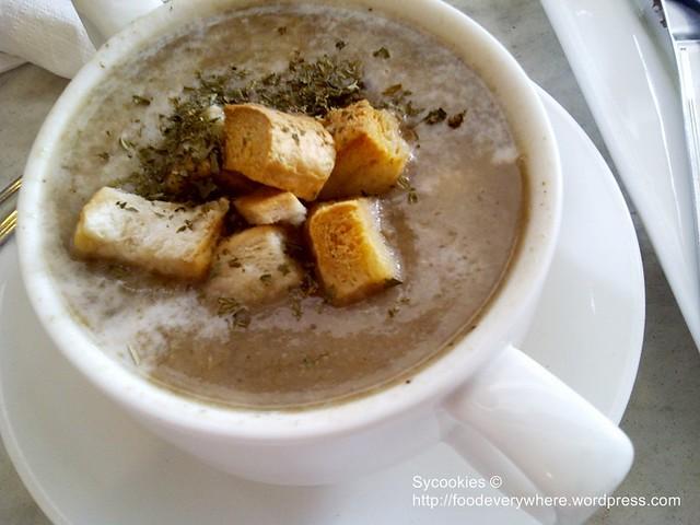1.@depature mushroom soup