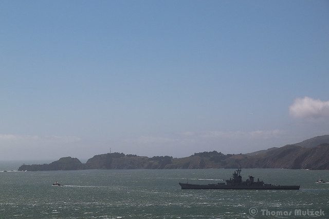 Battleship USS Iowa (BB-61) - Final Voyage - Leaving San Francisco