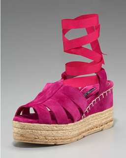 Ralph Lauren Umeeda Ankle-Wrap Espadrille NM Retail $295 on sale for $197