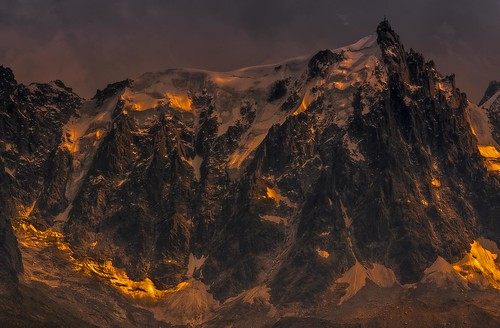 Aiguille de Midi at Sunset (Explored)