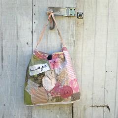 bag, art, textile, handbag, pattern, tote bag, pink,