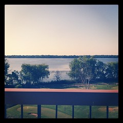 Morning view from the patio. Loving the MN fresh air!