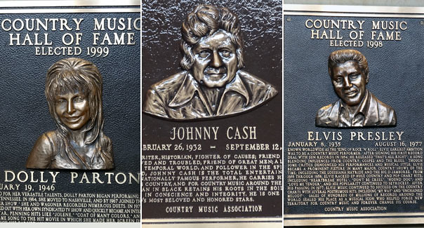 Country Music Hall of Fame plaques
