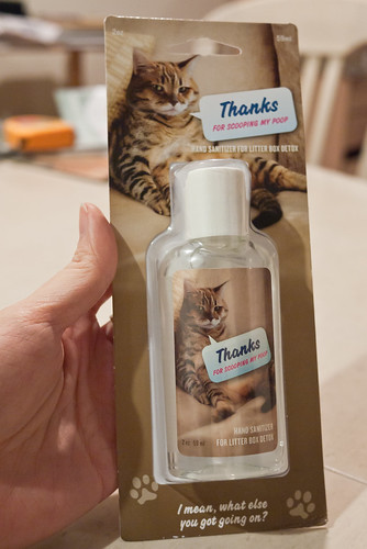 Post kitty litter cleaning hand sanitizer