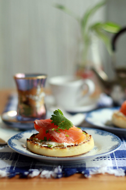 Smoked Salmon, English Muffin & Cream Cheese Breakfast