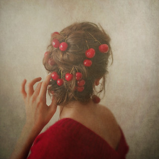 Red, or the woman with the cherries in her hair.
