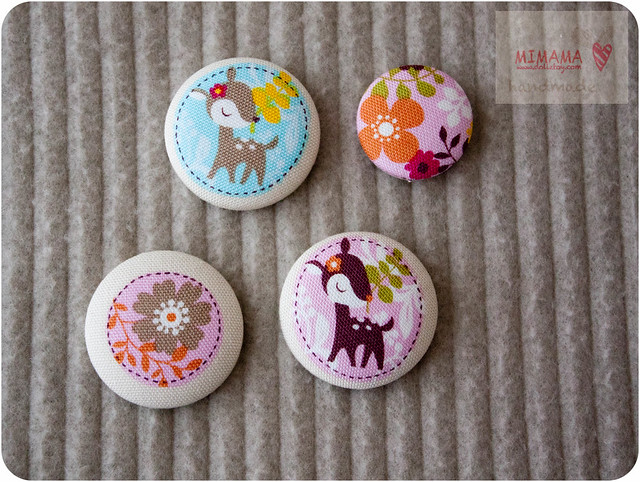 Flower Deer buttons
