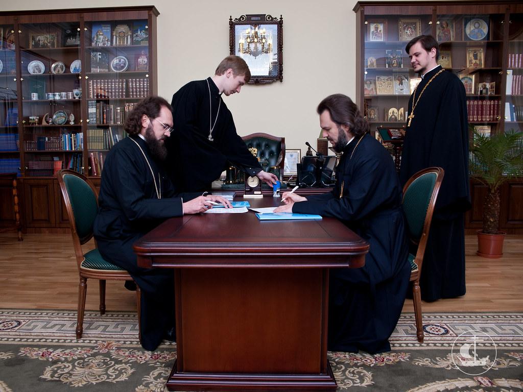 8 июня 2012, Визит Преосвященного Феофилакта епископа Пятигорского и Черкесского в СПбПДА