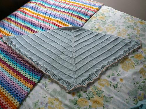 Finished shawl - unblocked
