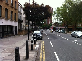 Malden Road - door zone cycle lanes