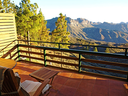 Terrace Views from the Parador Cruz de Tejeda, Gran Canaria