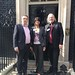 Nick Booth, Monica Tailor and John Popham at 10 Downing Street