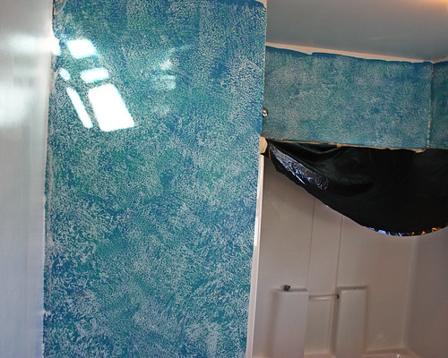 Old blue paint