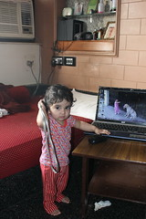 Nerjis Asif Shakir Calling Her Dad.. by firoze shakir photographerno1