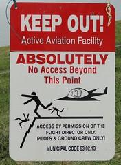 Danger Glider sign