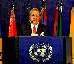 Republic of Cuba President Raul Castro Ruz addressing the United Nations Conference on Sustainable Development in Rio de Janeiro, Brazil. The conference represented two decades of such meetings. by Pan-African News Wire File Photos