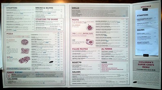 The confusing menu at Prezo's