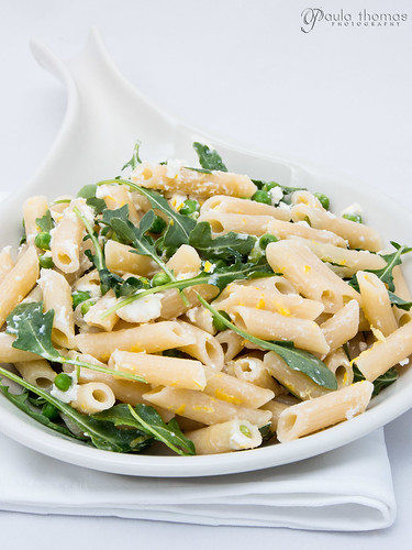 Goat Cheese Lemon and Pea Pasta