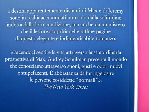Audrey Schulmann, Tre settimane a dicembre. edizioni e/o. Grafica di Emanuele Gragnisco. Quarta di copertina (part.), 1