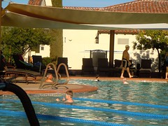 Mike M at swimming pool Corte Bella