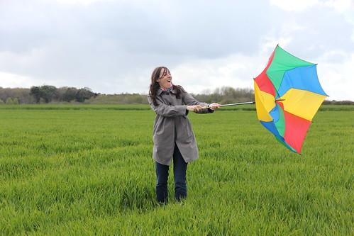 Desolee pour le parapluie