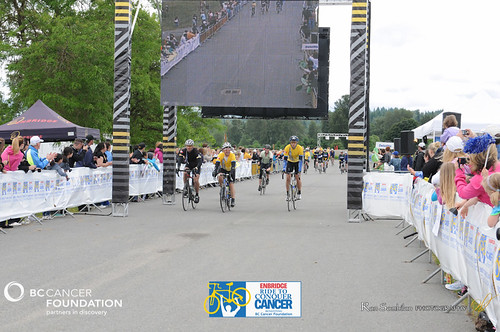 FINISH LINE CROSSING - RIDE TO CONQUER CANCER 2012 - BC Cancer Foundation - Photos by Ron Sombilon Photography-1199-WEB