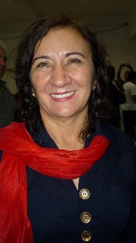 A candidata a prefeitura de Santarem pelo PT - Lucineide Pinheiro
