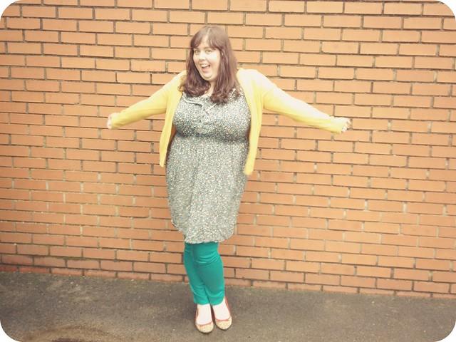 plua size green jeans