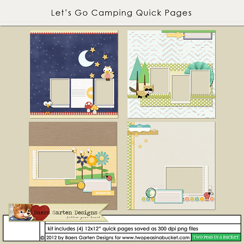 Let's Go Camping quick pages