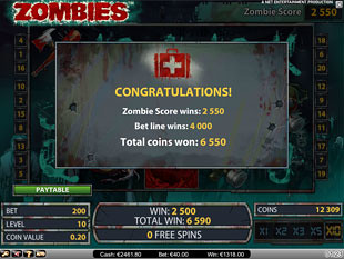 Zombies Free Spins