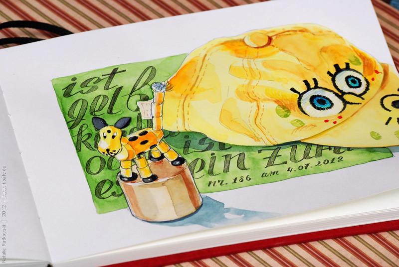 My 365 sketchbook: Yellow