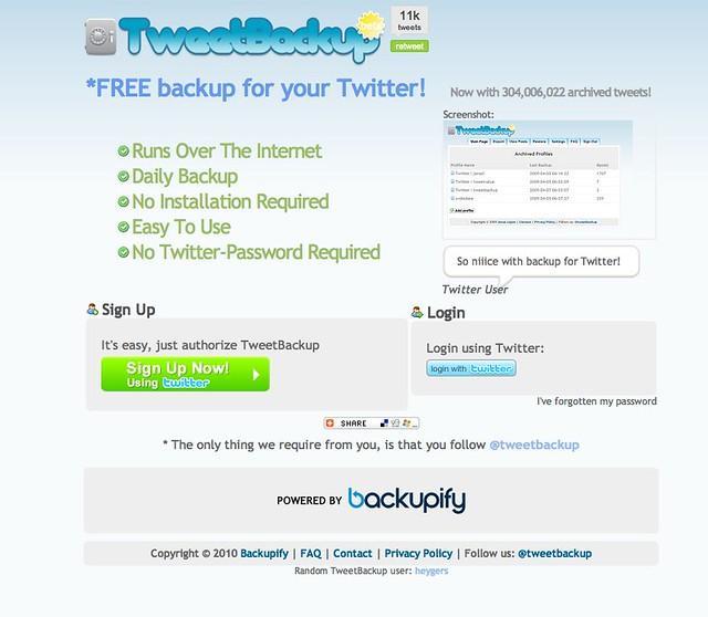 Tweet Backup