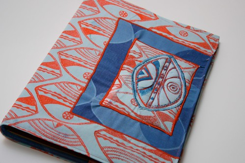 Sewing project - block printing your own file cover