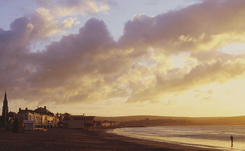Weymouth beach at sunrise