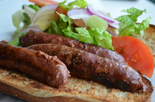 Merguez sandwich at Pomera