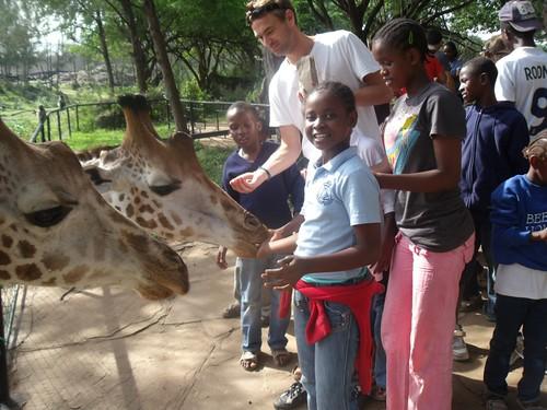 Andrew with Njeri, Mwaka & Christine