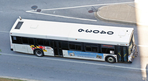 MTA New Flyer D40LF speeding through Baltimore