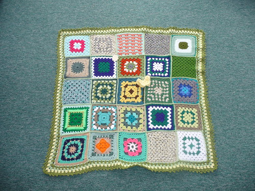 Thanks to everyone who have contributed squares for this blanket.