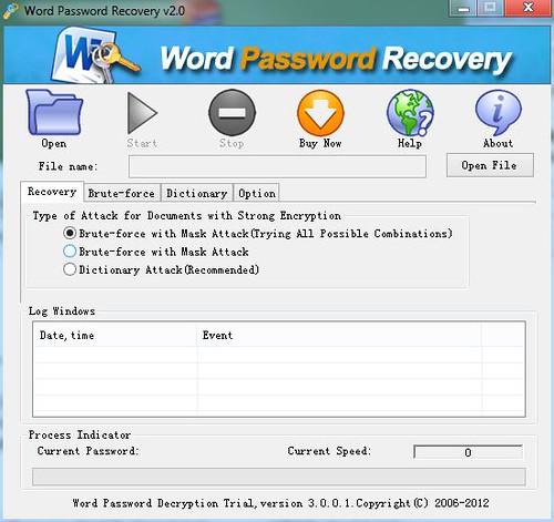 忘记word文档密码怎么办?CrackPDF Word Password Recovery2.0 [专业恢复word密码] | 爱软客