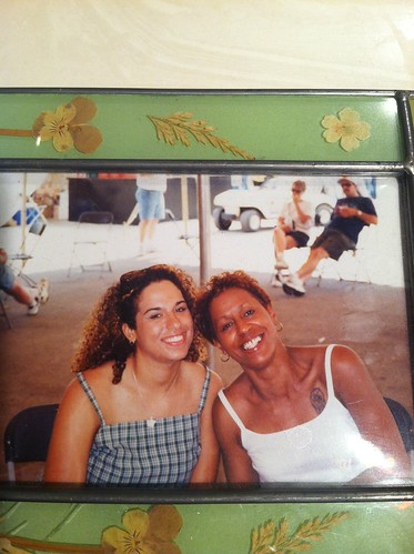 Mom and me, back in college