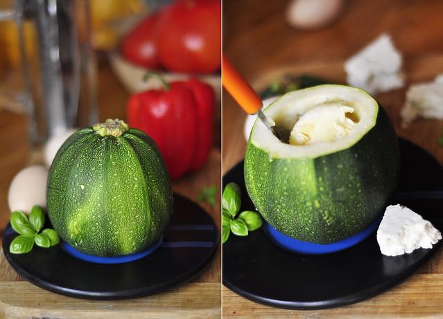 Stuffed round  zucchini 1