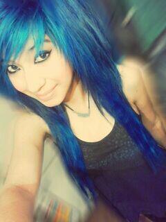 Good when blue hair teen