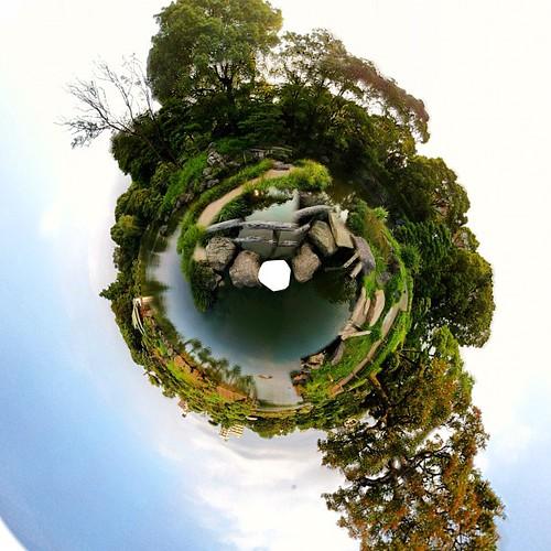 もういっちょ清澄庭園。 #360PANORAMA #smallplanet