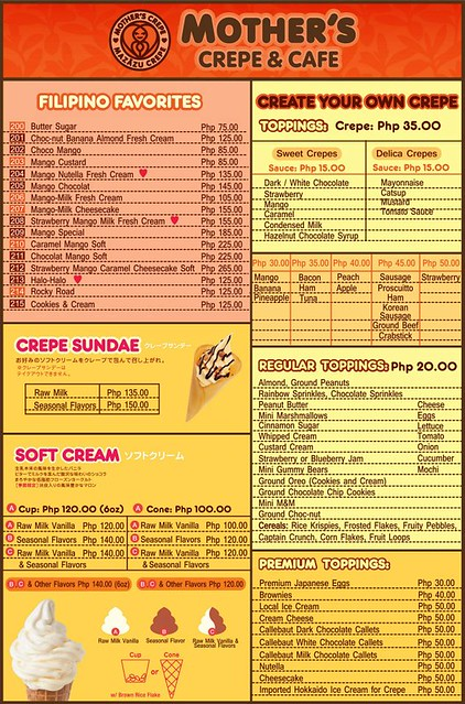 Mother's Crepe Menu 04