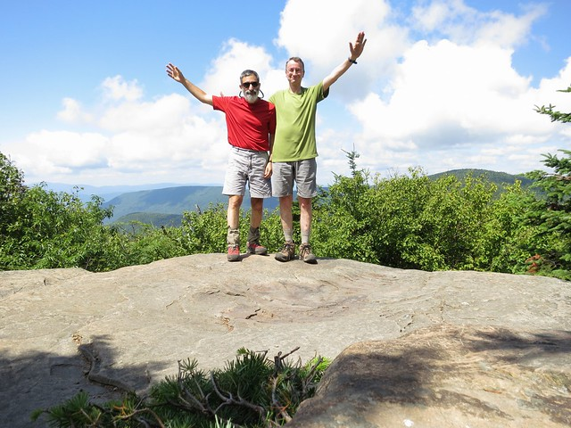 Richard and Gary on Twin, Catskills